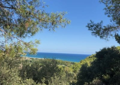 Blauwe zee omgeving